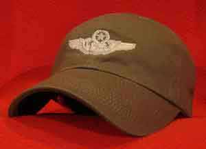USAF Master Navigator wings ball cap