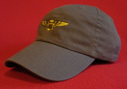 Naval Aviator wings hat